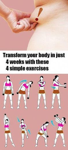 Transform Your Body in Just 4 Weeks With These Four Simple Exercises