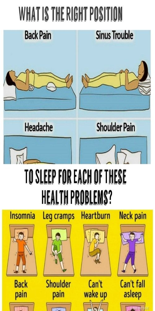 WHAT IS THE RIGHT SLEEPING POSITION FOR EACH OF THESE HEALTH PROBLEMS?